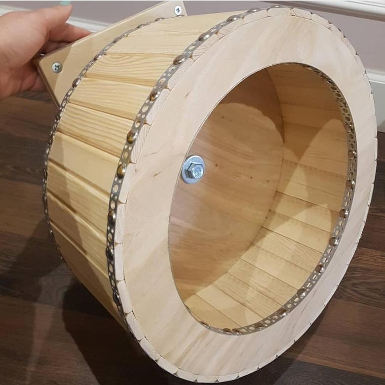 Как сделать беговое колесо для шиншилл своими руками