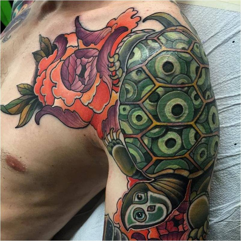 Значение татуировки «черепаха»