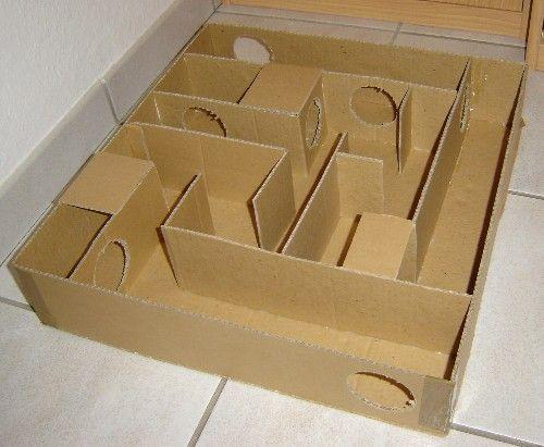 Как сделать лабиринт для хомяка?